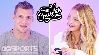 Rob Gronkowski & Camille Kostek Ask Each Other 37 Questions | The Couples Quiz | GQ Sports