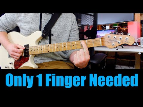 10 Classic Riffs! Only ONE Finger Needed Metallica, ACDC, Beatles, The 1975, Pearl Jam, Coldplay,