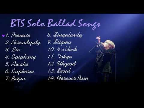 [Playlist] BTS (방탄소년단) Solo Ballad Songs | For Studying, Relaxing and Sleeping...