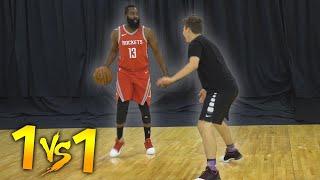 1 V 1 BASKETBALL VS NBA SUPERSTAR JAMES HARDEN!
