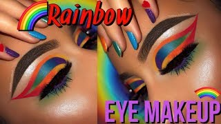 RAINBOW TRIPLE CUTCREASE MAKEUP TUTORIAL