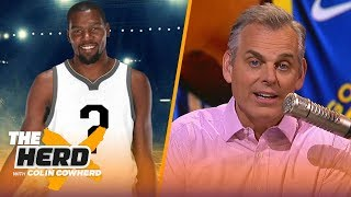 Colin Cowherd reacts to KD opting out of contract & predicts NBA FA landing spots   NBA   THE HERD