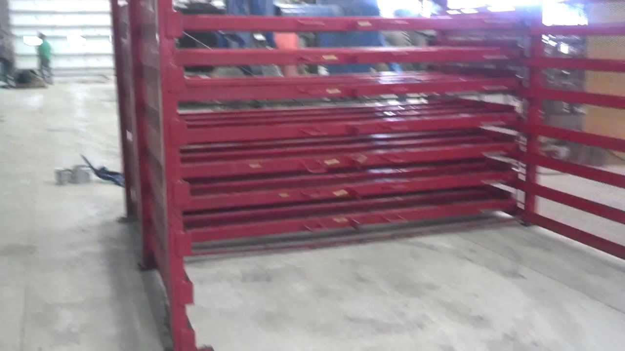 Sheet Steel Rack Holds 60 Quot X 120 Quot Steel With 7 Roller