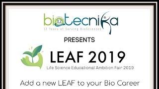 LEAF 2019: Life Sciences Educational Ambition Fair 2019 announced