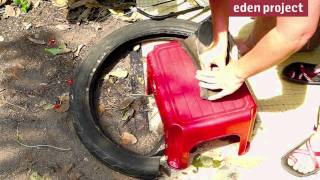 How to make sandals from an old tyre