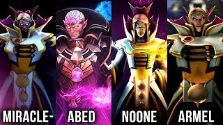 MOST EPIC Invoker Battle - Best Invoker Players in The World?! Miracle vs Abed vs Noone vs Armel
