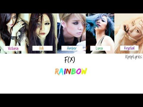 F(x) - Rainbow [English/Romanization/Hangul] Picture + Color Coded HD