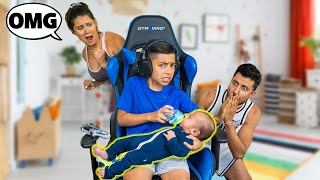 Ferran BABYSITS His BABY BROTHER For The FIRST TIME!! | The Royalty Family