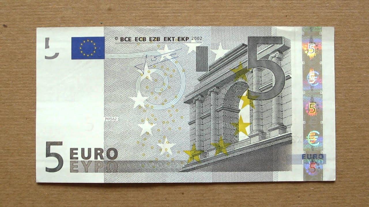 5$ In EUR