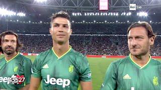 Cristiano Ronaldo, Francesco Totti & Andrea Pirlo @ Parita Del Cuore 2019