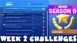 ALL Week 2 Season 9 Challenges Guide - Fortnite Battle Royale