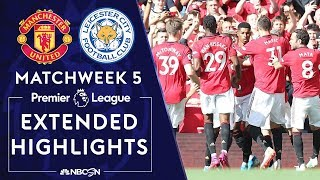 Manchester United v. Leicester City | PREMIER LEAGUE HIGHLIGHTS | 9/14/19 | NBC Sports