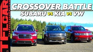 THIS Family Hauler is Better, Can You Guess Which One? Kia Telluride vs Subaru Ascent vs VW Atlas