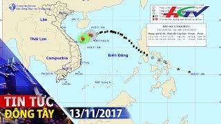 Bão số 13 suy yếu thành áp thấp nhiệt đới | TIN TỨC ĐÔNG TÂY - 13/11/2017