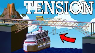 A real engineer uses TENSION to make SUPER STRONG bridges in Poly Bridge 2 Challenge Mode!