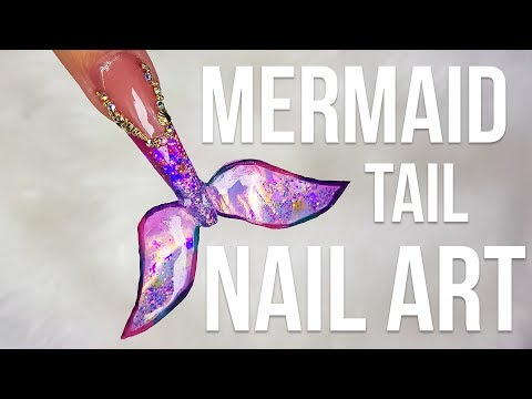 HOW TO DO A MERMAID TAIL NAIL