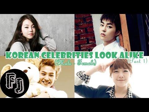 Korean Celebrities Look Alike (Male - Female) (Part 1)