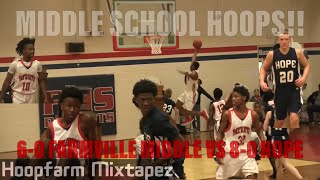 Middle School Hoops!! Farmville Middle (7-0)Tops Hope (8-1) To Stay Undefeated!