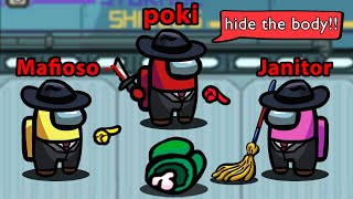 Among Us but I can HIDE BODIES (mafia mod)