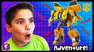 Giant BUMBLE BEE Surprise TOY ADVENTURE! Power Ranger Mega Zord Fun by HobbyKidsTV