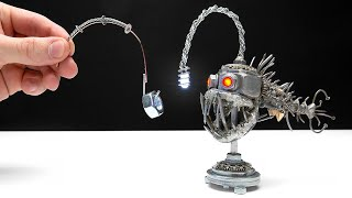 PERFECT ANGLER FISH NIGHT LAMP FROM METAL || Steampunk Style Craft