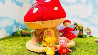 MUSHROOM FAIRY HOUSE Peppa Pig and Baby Margaret Surprise Toys!