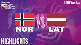 Norway vs. Latvia - Game Highlights - #IIHFWorlds 2019