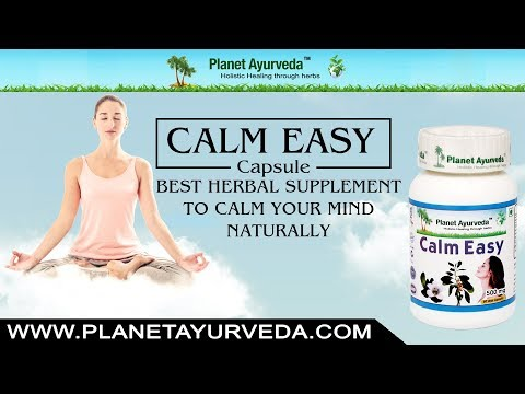 Amazing Herbal Supplement to Ease Stress/Anxiety - Calm Easy Capsules