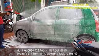 Chi tiết bộ thiết bị rửa xe ô tô đón 10 – 20 xe/ ngày kết hợp xe máy của Điện máy Lucky
