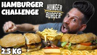 HUNGER BURGER Challenge - 2.5 KG per vincere 200 EURO - MAN VS FOOD