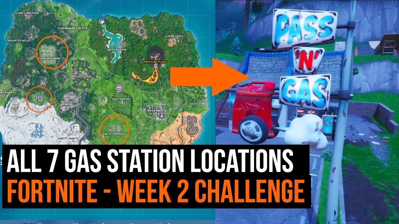 Gas Station Locations Fortnite