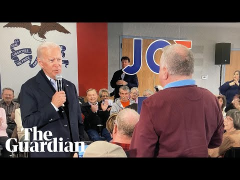 'You're a damn liar': Joe Biden lashes out at voter in Iowa