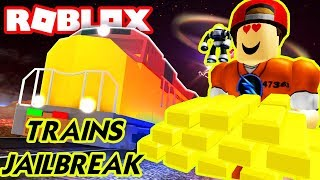 Roblox | Vượt Ngục Cướp Xe Lửa Với Phi Vụ Ngàn Lượng Vàng | TRAINS! Jailbreak | Vamy Trần