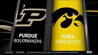 Purdue at Iowa - Men's Basketball Highlights