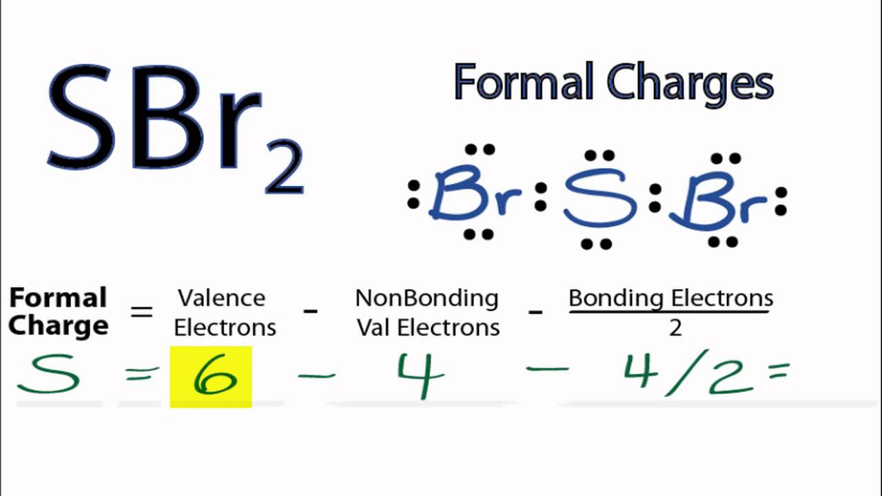 Hcl Lewis Dot: Calculating SBr2 Formal Charges: Calculating Formal