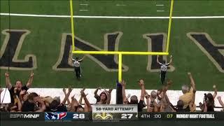 Will lutz kicks game winning field goal Texans Vs saints