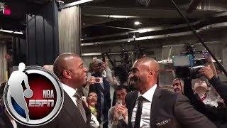 Kobe Bryant and family arrive for Lakers jersey retirement ceremony | ESPN