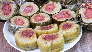 Bánh Tét - Cách làm Bánh Tét Chuối cấp tốc - Cách gói Bánh Tét - Món ăn Ngày Tết by Vanh Khuyen