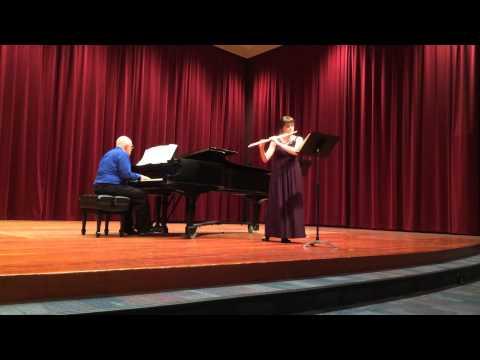 """4th Mvt of the Reinecke """"Undine"""" Sonata, performed April 2014 in the SFSU Flute Studio Recital.  Piano, Steve Damonte"""