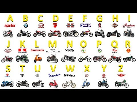 Learn Motorcycle Brands from A to Z - Full Alphabet