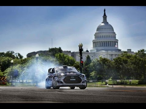 Precision Driver Rhys Millen Takes on DC for the Red Bull Global Rallycross Championship.