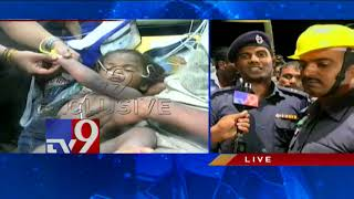 NDRF team rescues boy stuck in Borewell in Guntur district..