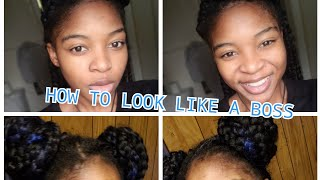 How To Style Your Jumbo Box Braids| 4 and a half ways