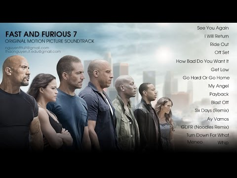 Fast & Furious 7 Soundtrack Full Album 2015 [16 tracks] | The Best Song Of Furious 7