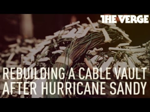 Rebuilding a Verizon cable vault devastated by Hurricane Sandy