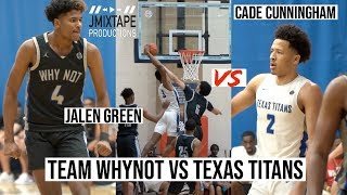 Jalen Green vs Cade Cunningham & Greg Brown! EPIC MATCHUP at Peach Jam!!!