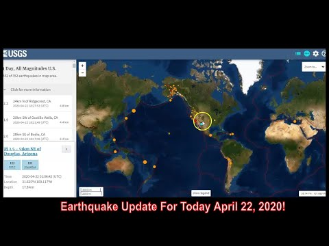Earthquake Update April 22, 2020!