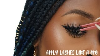 How to apply false eyelashes for beginners (Simple, Easy and Quick)