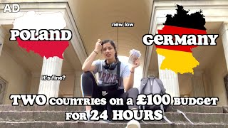 SOLO TRIP to TWO COUNTRIES on a £100 BUDGET for 24 HOURS (ad) | clickfortaz
