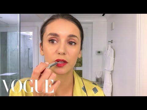 Nina Dobrev Does Her Day-To-Night BeautyRoutine   Beauty Secrets   Vogue